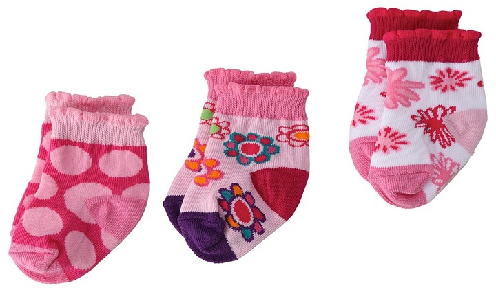 Jefferies Socks Flower Frenzy 3-Pack Gift Box (Infant)