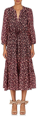 Ulla Johnson Women's Clementine Floral Cotton-Silk Midi-Dress $520 thestylecure.com