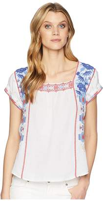 Johnny Was Zelda Mexican Peasant Top Women's Clothing