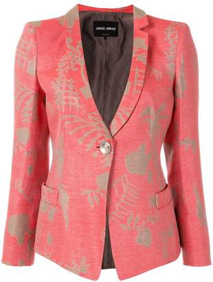 Giorgio Armani fitted abstract print jacket