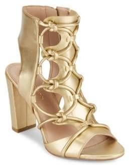 BCBGeneration Fay Metallic Lace-Up Sandals