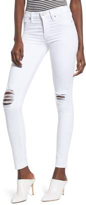 Hudson Jeans Nico Ripped Ankle Skinny Jeans