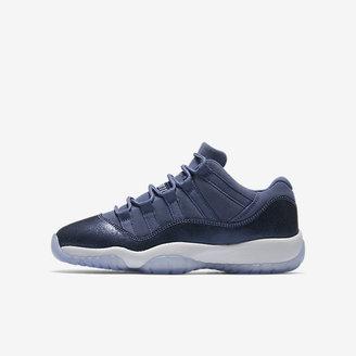 Air Jordan 11 Retro Low Big Kids' Shoe (3.5y-7y) $130 thestylecure.com