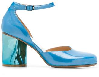 48e041298d Blue Block Heel Shoes - ShopStyle UK
