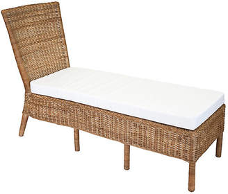 One Kings Lane Sausalito Armless Wicker Chaise - Chestnut