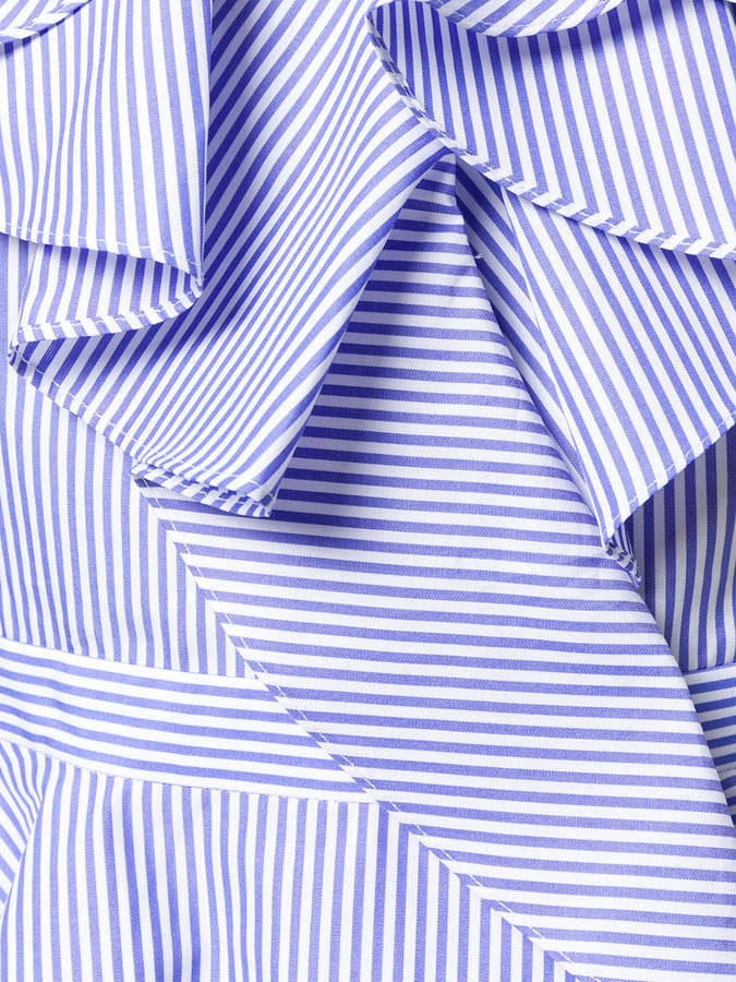 Alexander McQueen striped ruffle blouse