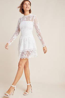 ML Monique Lhuillier Asta Lace Mini Dress