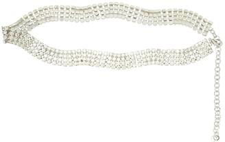 Alessandra Rich 25mm Crystal Belt