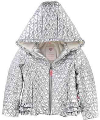 Billieblush Metallic Heart-Quilted Jacket, Size 2-8