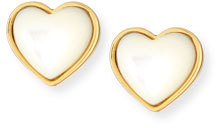 Tory Burch Tory Burch Amore Cabochon Heart Stud Earrings