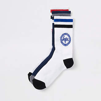 Hype navy crest print socks multipack