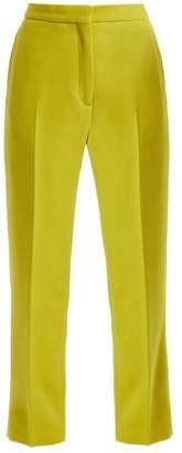 Rochas Straight-leg wool-crepe trousers