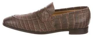 Isaia Alligator Dress Loafers