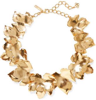 Oscar de la Renta Grape Leaf Gold-tone Necklace