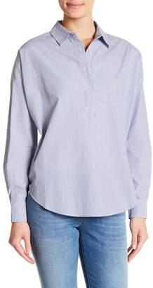 Scotch & Soda Partial Buttoned Striped Shirt