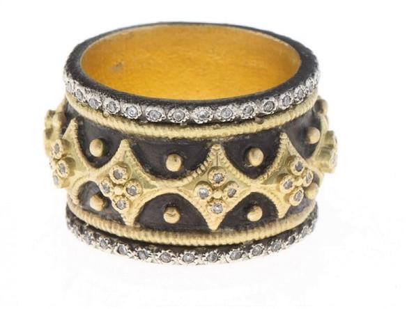 ArmentaArmenta 18k Yellow Gold and Diamond Band Ring