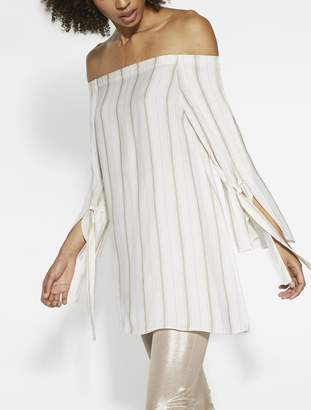 Halston Off Shoulder Striped Top