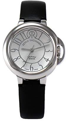 Revue Thommen Cosmo - Lifestyle Women's Automatic Watch with Silver Dial Analogue Display and Black Leather Strap 109.01.03