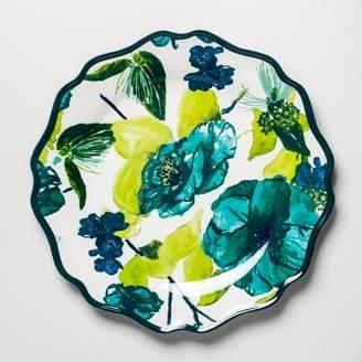 """Opalhouse Melamine Dinner Plate 10.5"""" Blue/Green Floral"""