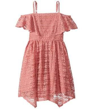 BCBGMAXAZRIA Girls Lace Handkerchief Dress (Big Kids)