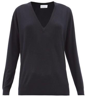 Raey V Neck Fine Knit Cashmere Sweater - Womens - Navy