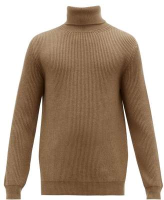 Altea Roll Neck Wool Sweater - Mens - Brown