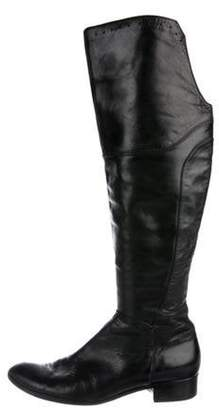 Alberto Fermani Leather Over-The-Knee Boots Black Leather Over-The-Knee Boots
