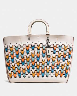 Coach Rogue Tote With Colorblock Link