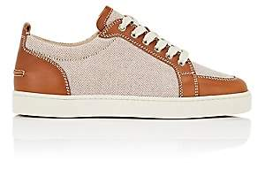 Christian Louboutin Men's Rantulow Flat Canvas & Leather Sneakers-Brown