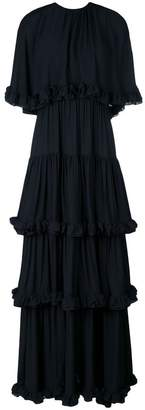 MSGM layered ruffle trim gown