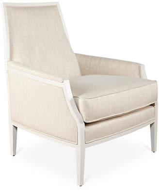 Joe Ruggiero Collection Bergen Chair - Ivory Sunbrella