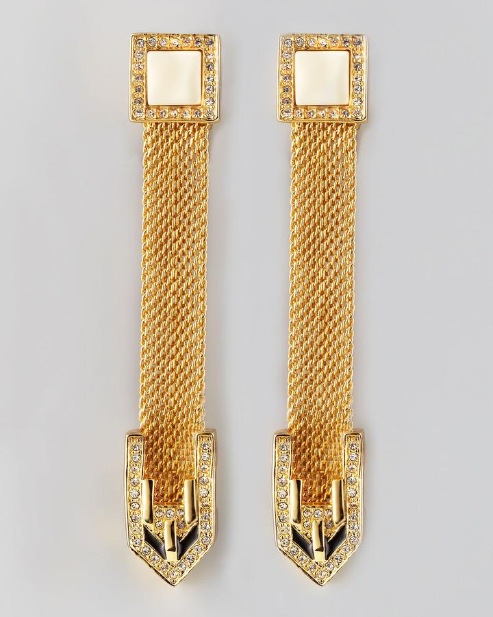 Rachel Zoe Snake Chain Drop Earrings
