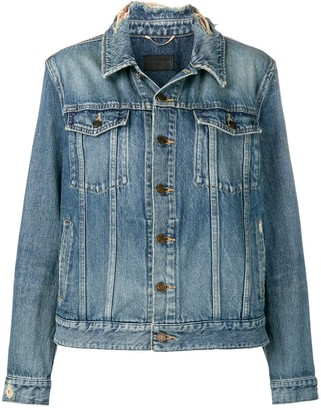 Saint Laurent frayed collar denim jacket