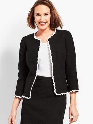 Talbots Tweed Scallop Jacket