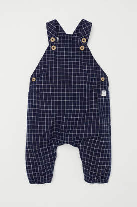 H&M Patterned Bib Overalls - Blue