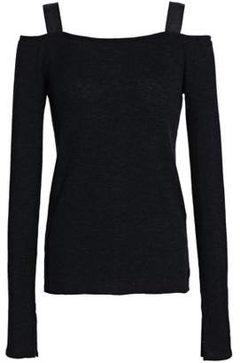 Rag & Bone Cold-shoulder Ribbed Wool-blend Top