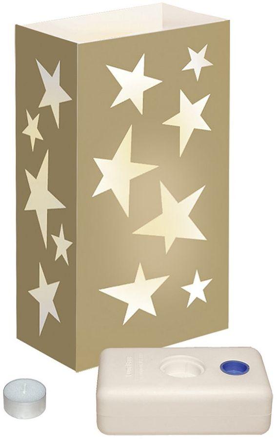 LumaBase 12-pk. Star Tealight Candle Luminarias