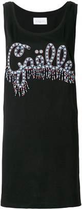 Gaelle Bonheur logo patch vest top