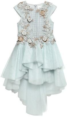 Floral Embellished Tulle Party Dress
