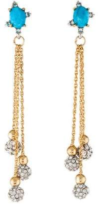 Alexis Bittar Crystal Encrusted Dangling Sphere Earrings