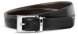 Montblanc Rectangular Shiny Wave Belt $310 thestylecure.com