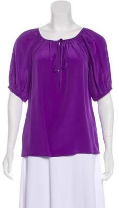 Fifteen-Twenty Fifteen Twenty Silk Short Sleeve Blouse w/ Tags