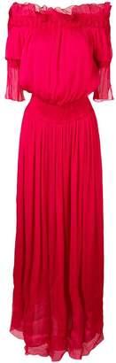 Genny off-shoulder long dress