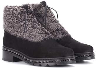 Stuart Weitzman Keepwarm Sassy suede ankle boots