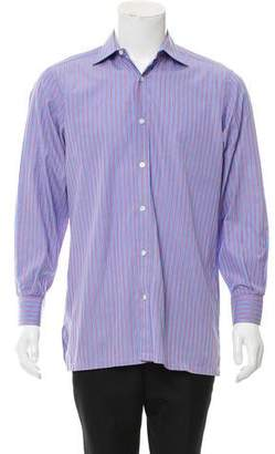 Charvet Striped Button-Up Shirt