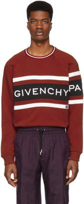 Givenchy Red Panelled Logo Sweatshirt