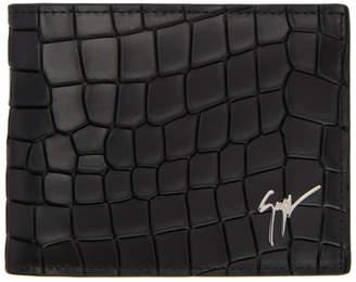 Giuseppe Zanotti Black Croc Wallet