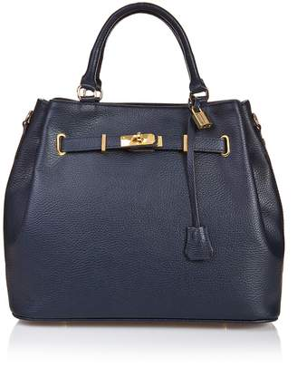 Castelli Massimo Belted Leather Satchel