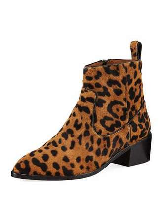 Veronica Beard Tanner Low-Heel Leopard-Print Booties