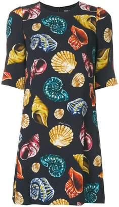 Dolce & Gabbana shell print shift dress